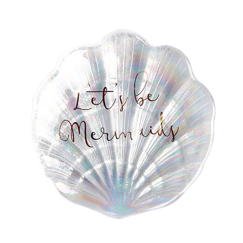 Shell Shape Jewelry Dish Fashion Trinket Tray Jewelry Display Plate Jewelry Storage Plate Photo Props Organizer Rack for Home