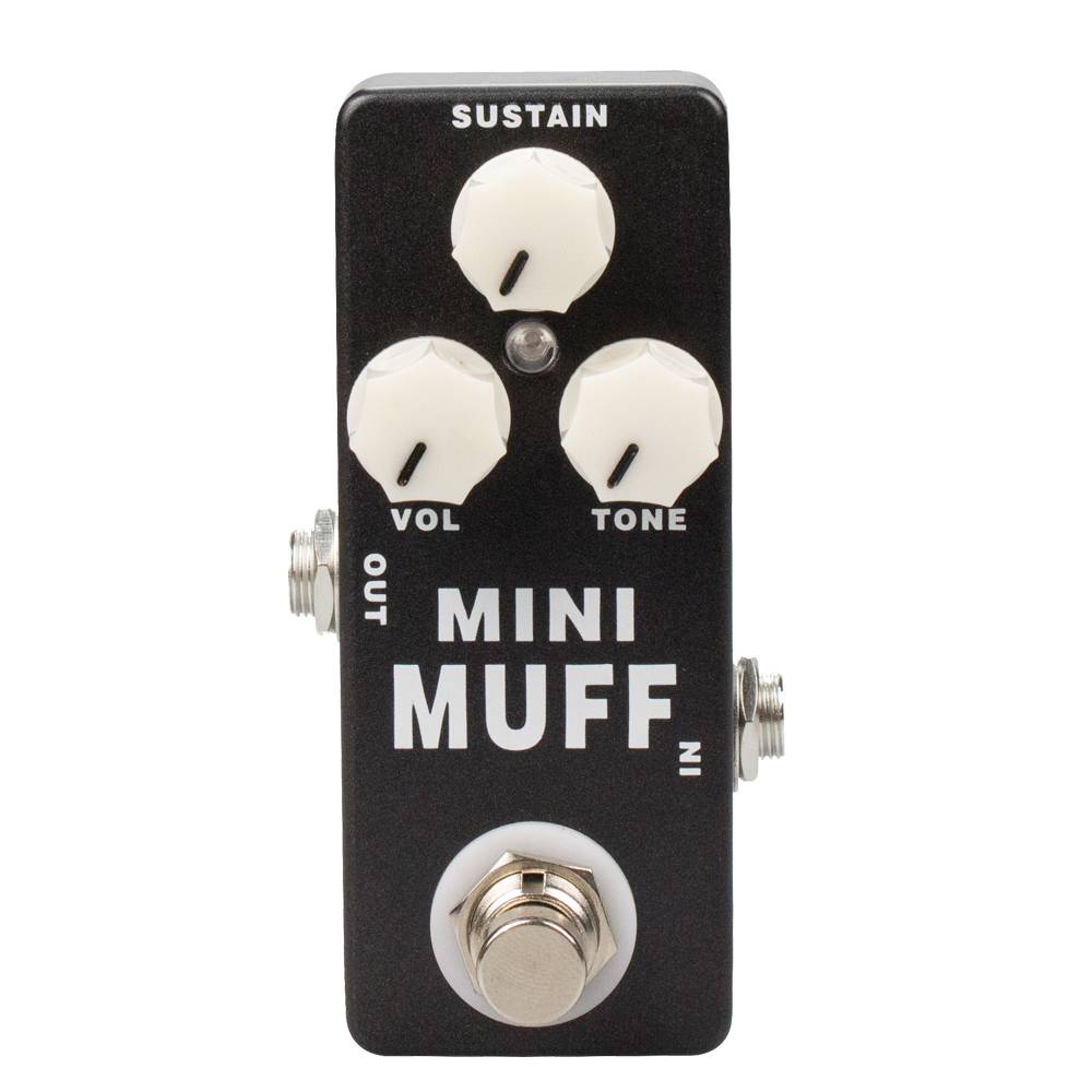 MOSKY MINI MUFF01 Fuzz Guitar Pedal Harmonic Distortion/Sustainer Based on electro-harmonix Big Muff Pi(π) True Bypass image