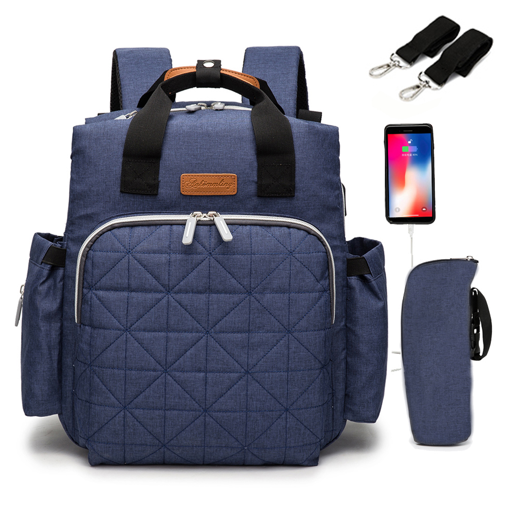 NEW USB Mummy Maternity New Born Baby Diaper Bag Backpack Organizer Stroller Bags For Mom Mother Nappy Bag Changing Nursing