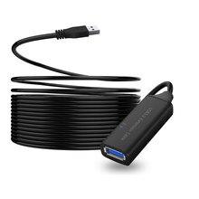 Cabo de extensão usb 2.0/usb 3.0 ativo, cabo de extensão 10m 15m 5m com amplificador/impulsionador para pc laptop