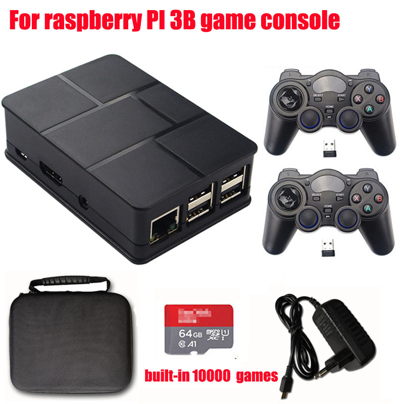 Retro Video Game Console HDMI 64GB Memory for Raspberry pi 3B Handheld Game Player Pi-boy 2.4G Wireless Built-In 10000 games