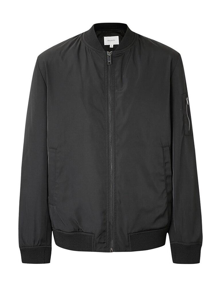 Me & City, мужские повседневные куртки, атласная Модная куртка, пальто, бейсбольные куртки, Мужская Уличная одежда, куртка бомбер - 6
