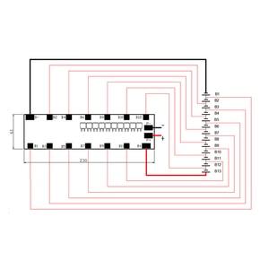Image 5 - Литий ионный аккумулятор 13S 48 В 25A BMS, литий ионный аккумулятор BMS для держателя 6*13 Вт