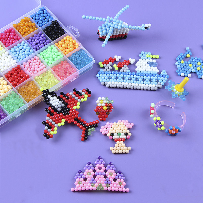 2020 DIY Water Mist Magic Beads Toys Gift For Children Animal Hand Making Puzzle Kids Educational Toys Spell Replenish Beans