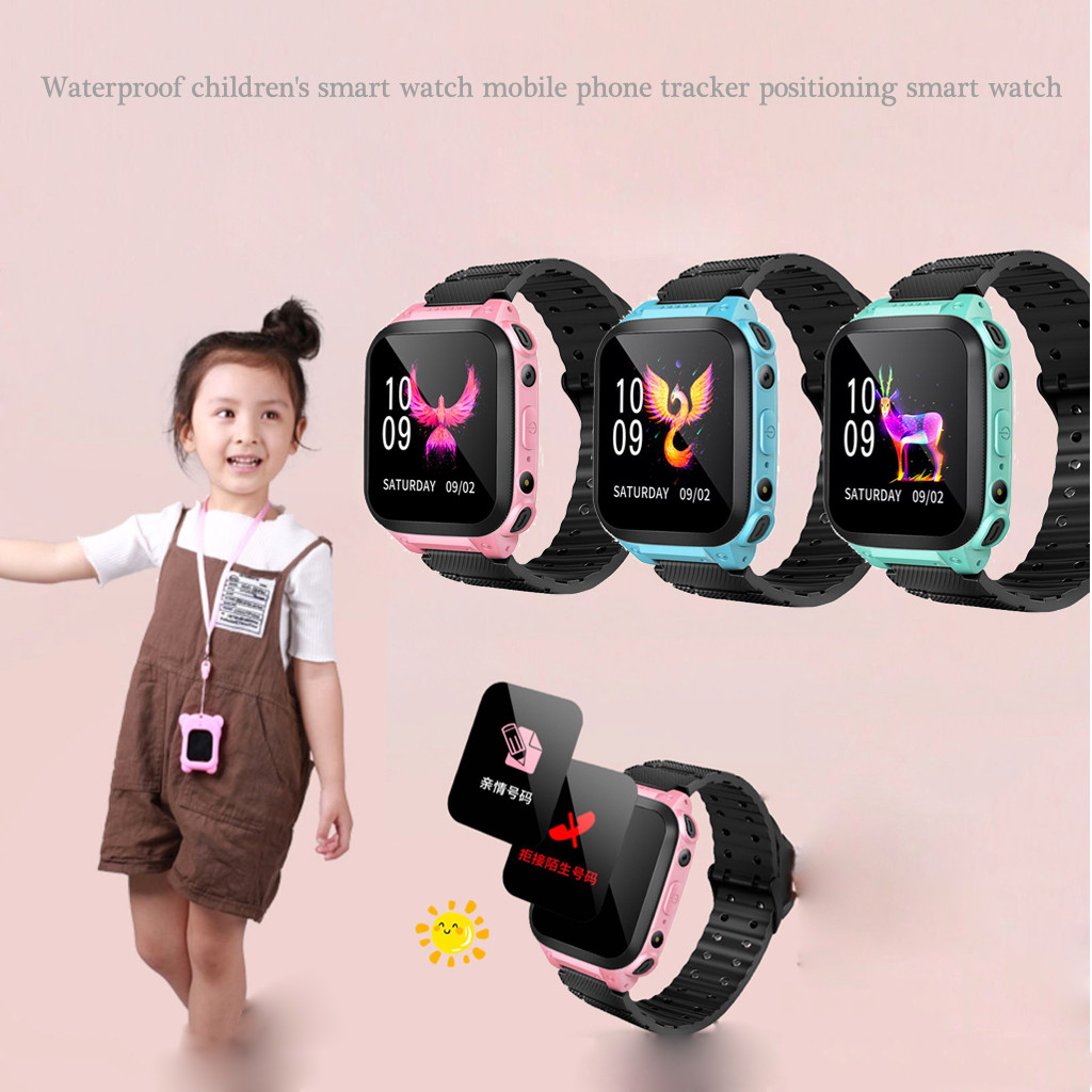 Smartwatch kids Watch Child Smartwatch for children with call LBS Locator Tracker smart watch kids Alarm clock with Android App image
