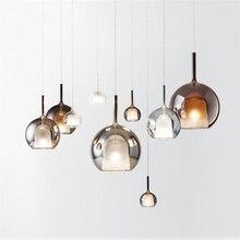 Nordic flasche farbige glas led anhänger lichter designer hängen lampe wohnzimmer bar villa leuchte home deco küche leuchten