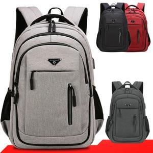 Big capacity men backpack laptop 15.6 oxford gray solid high school bags teen college student backpack multifunctional backpack