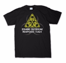 2019 Hot Sale Super Fashion Best T Shirts For Men zombie Outbreak Response Team Shirt Funny T-Shirt Walking Dead crazy Tee Shirt outbreak