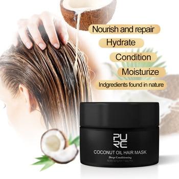 PURC-mascarilla para el cabello con aceite de coco, 50ml, para reparar el...