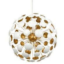 Postmodern style dandelion art designer small chandelier personalized creative bedroom dining light bulb