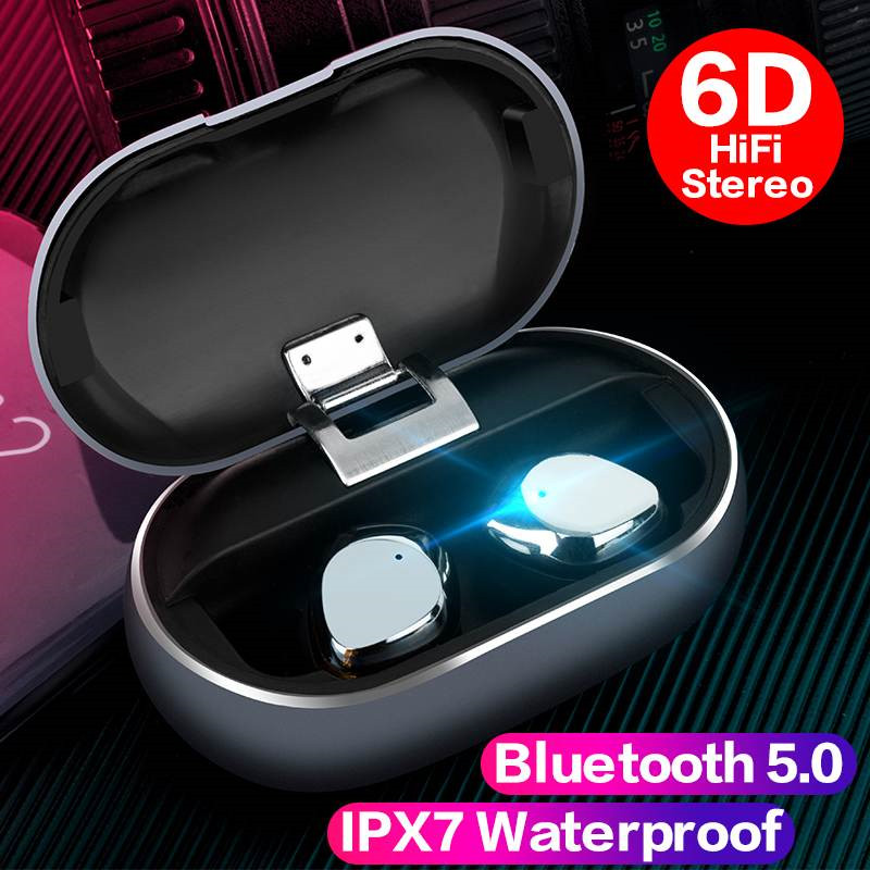 X26 Drahtlose Binaural Earphonrs 5,0 Bluetooth Headset <font><b>In</b></font>-ohr Überzug Metall Tiefe Bass HiFi Noise Reduktion Touch Control Headphon image