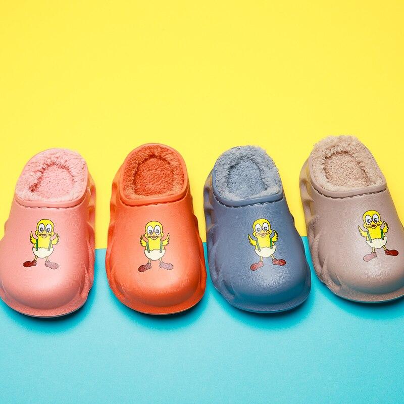 2020 модные детские зимние хлопковые домашние тапочки; Детская