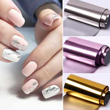 1 Roll Rose Gold  Nail Foils sparkly Sky Glitter Nail Art Transfer Stickers Paper Nail