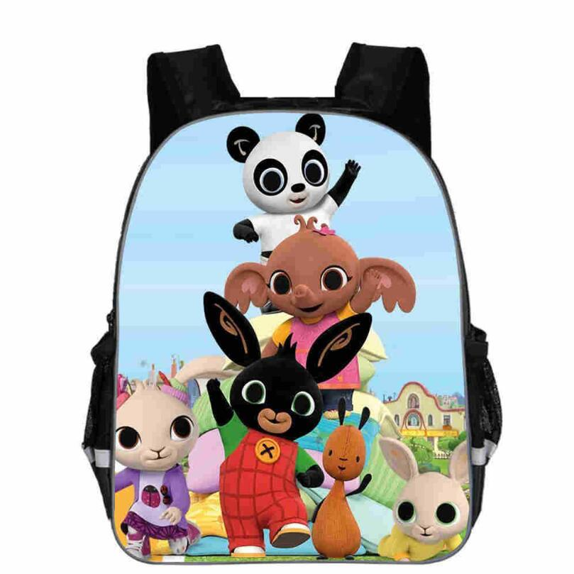 Anime Bing Bunny Print Backpack School Boys Girls Children Book Bag Cartoon Baby Girl Backpack Cartable Enfant Kindergarten