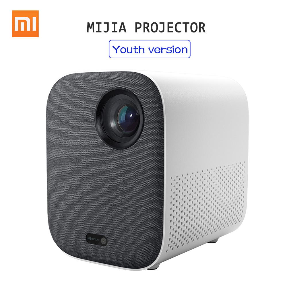 Xiaomi Mijia DLP Projector 1080P 4K Video 500ANSI Lumens Mount Projection HDR10 2.4G 5G WiFi 2GB+8GB Portable Projector for HomeSmart Remote Control   -