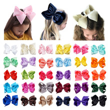 61Pcs/lot 6 Solid Grosgrain Ribbon Hair Clip for Girls Hairgrip Kids Bows Hairpin Fashion Accessories Wholesale