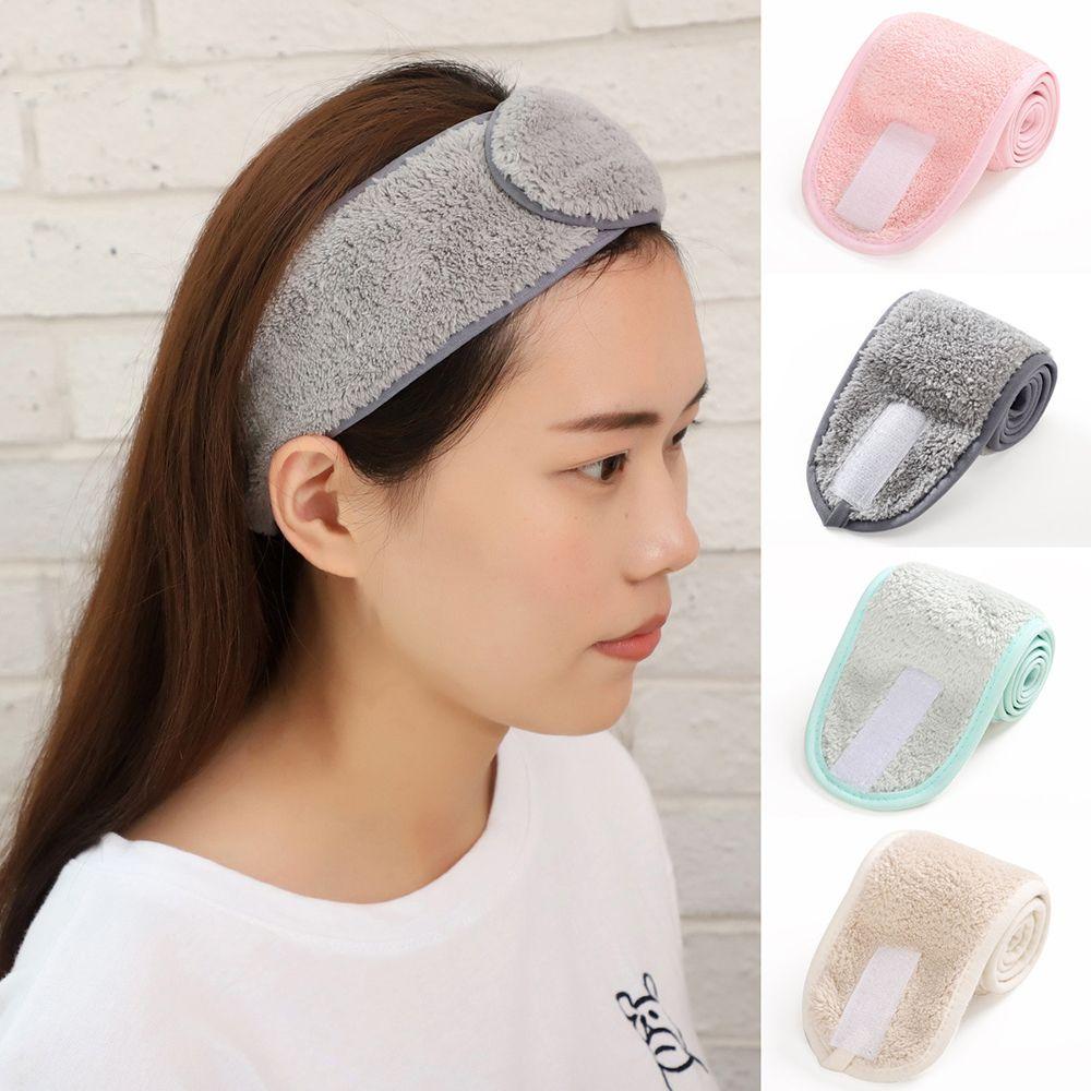 Women Bath Shower Cosmetic Hair Bands Wrap Adjustable Face Washing Makeup Headbands Turban Soft Toweling SPA Salon Accessories(China)