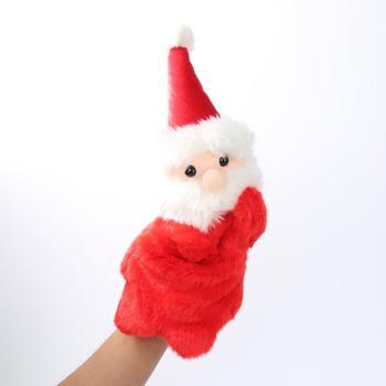Święty mikołaj pacynki zabawki lalki udawaj zagraj w lalkę pokaż dzieci zwierzęta historia opowiadanie rękawiczki dzieci pluszowe maskotki tanie i dobre opinie Liplasting CN (pochodzenie) 3 lat Puppets Unisex Pacynka