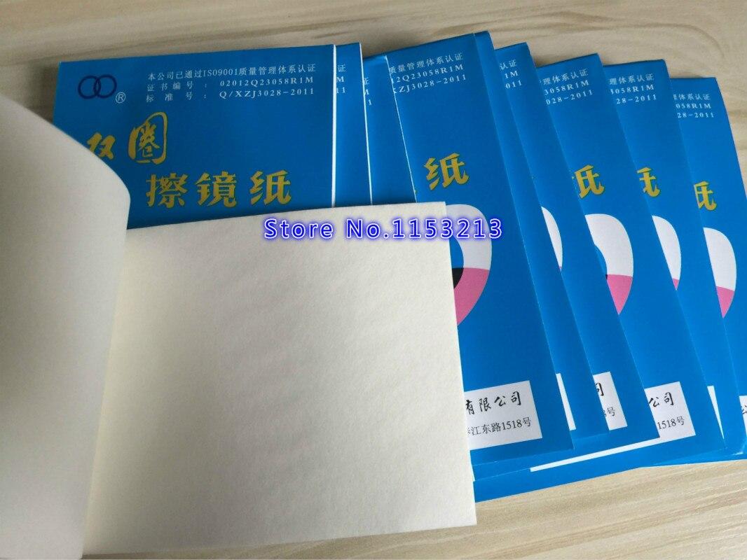 Купить с кэшбэком Camera Lens Cleaning Paper 10*15CM Optics Tissue Clean Paper Universal Soft Glasses Paper Wipes Booklet For 100pcs/pk *10 pk