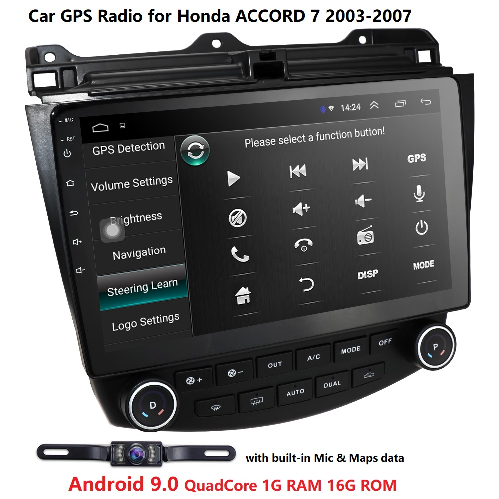 Car NO DVD <font><b>Stereo</b></font> 10.1 Inch Android 9.0 Audio Radio Player Car GPS Navigation For <font><b>Honda</b></font> <font><b>Accord</b></font> 7 <font><b>2003</b></font>-2007 WIFI BT 4G SWC DAB FM image