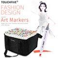 TouchFive маркер 30/40/60/80/108/168 цвета комплект для рисования алкоголь зубная щетка с двумя головками и быстросохнущий искусство студент Suppiles