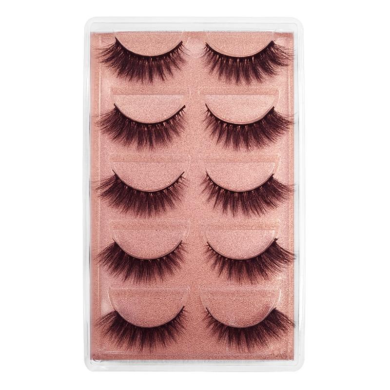 YSDO 5 Pairs 3D Mink EyeLashes Fluffy MakeupLash Dramatic EyeLashes Natural Long Hair Mink False EyeLashes Lifelike Lash