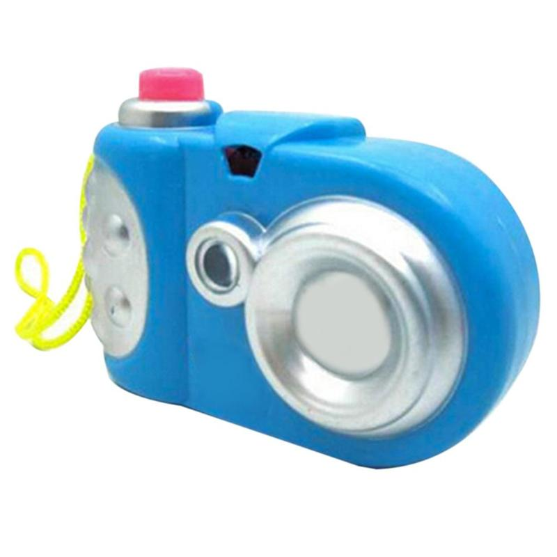 Kids Mini Cartoon Plastic Simulation Camera 8 Different Light Patterns Children Educational Projector Toy Random Color