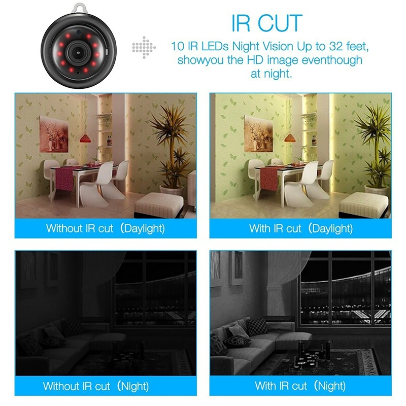 1080P IP Baby Monitor Camera With Night Vision CCTV Cam For Your Child Safety 15