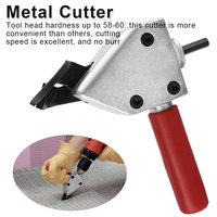 Nibble Metal Cutting Sheet Nibbler Saw Cutter Tool Drill Attachment Cutting Tool Metal plate Cut Power Tool Accessories