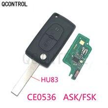 QCONTROL 2 أزرار سيارة مفتاح بعيد 433MHz يناسب لسيتروين C1 C2 C3 C4 C5 بيرلينجو بيكاسو ID46 (CE0536 ASK/FSK) مع شفرة HU83