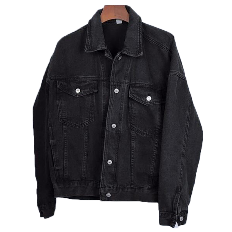 Korean Jeans Jackets And Coats For Women 2019 Black Denim Jacket Button Turn-Down Collar Ladies Jackets Outwear Casaco Feminino