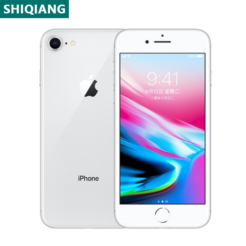 Used Unlocked Original iPhone 8 Cellphones 4.7inch Fingerprint 2+64/256GB Smartphones 7+12MP 1SIM Card Mobile Phone