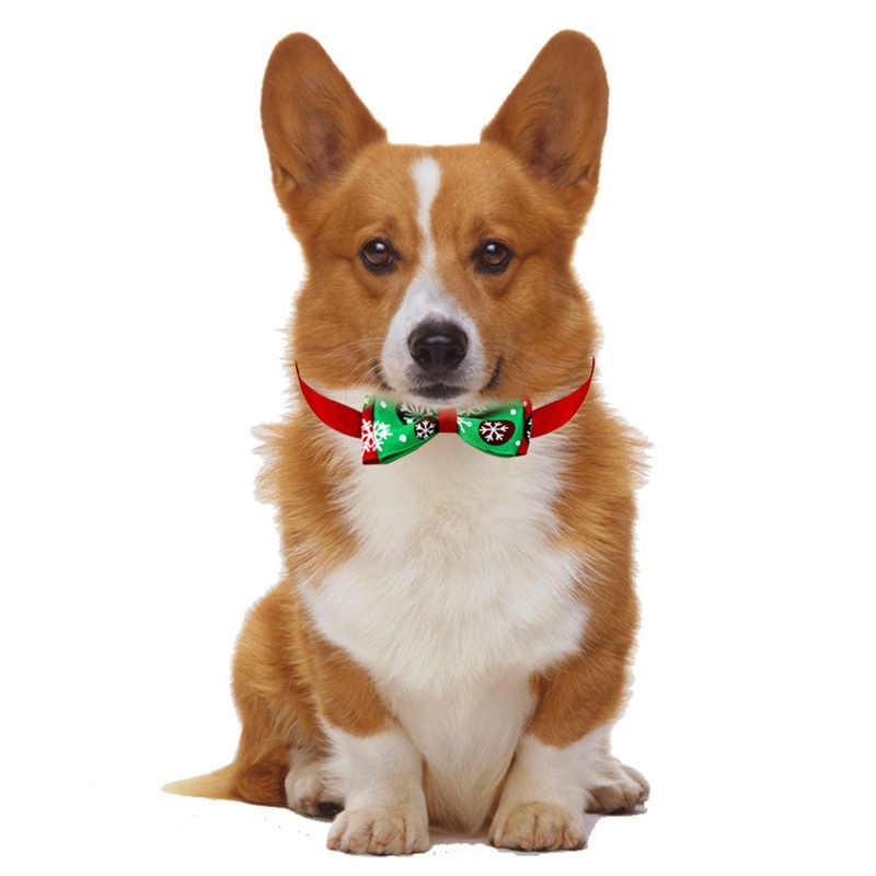 Navidad Fiesta de mascota perro gato pajarita ajustable correa para el cuello accesorios para el cuidado del perro gato productos para mascotas suministros de Navidad