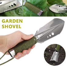Garden Engineer Shovel Stainless Steel with Serrated Hex Wrench Straightedge Dredge Knife Bottle Opener