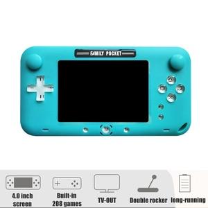 Image 2 - 2019 plus récent 4 pouces grand écran rétro Console de jeu Portable lecteur de jeu vidéo Portable pour Nes jeux HDMI Out Rechargeable