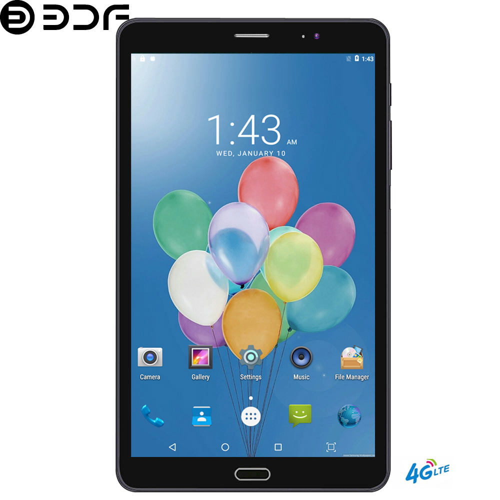 BDF Tablet 8 Inch 2.5D Screen Android 7.0 Tablet Pc 4GB/64GB 4G LTE Phone Tablet Dual SIM Card 1920*1200 IPS Pc Tablet 7 8 9 10