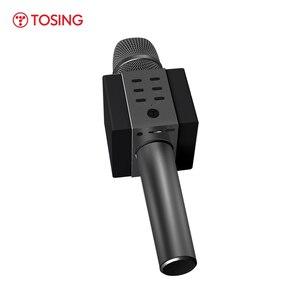 Image 4 - מקצועי Bluetooth אלחוטי מיקרופון קריוקי מיקרופון רמקול כף יד מוסיקה נגן מיקרופון שירה מקליט KTV מיקרופון