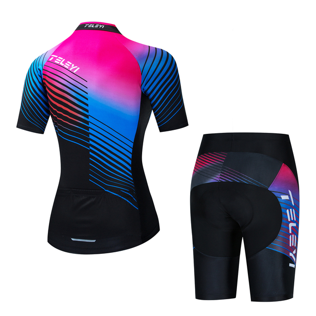 Triathlon terno roupas ciclismo conjuntos de corpo rosa roupa feminina macacão feminino triatlon kit 2