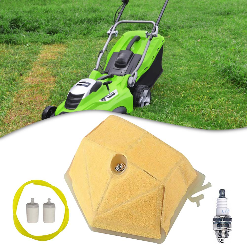 Lawn Mower Air Filter Fuel Filter Spark Plug Garden Machinery Air Filter Accessories Set Strainer For Products