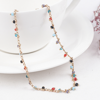 Simple Colorful Beads Anklets for Women Foot Accessories Summer Beach Barefoot Sandals Bracelet ankle on the leg Female Ankle 4