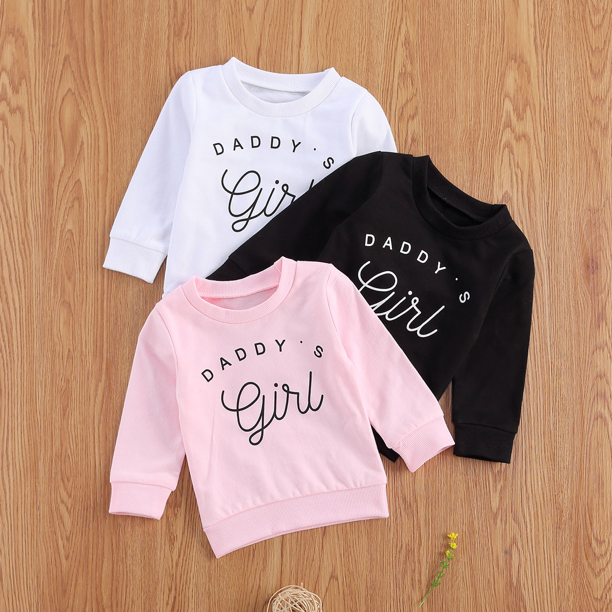 Newborn Baby Girls Sweatshirts Infant Long Sleeve O neck Thick Tee Casual Letter Print Tops 2020 New Spring Autumn Sweater
