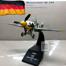 WLTK 1/72 Scale Military Model Toys German Bf-109 Fighter Diecast Metal Plane Model Toy For Collection,Gift,Kids new rare fine corgi 1 72 germany me262a 1a fighter red 7 aa35710 collection model holiday gifts