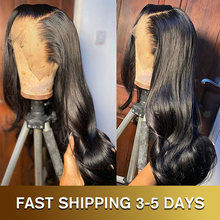 28 30 Inch Body Wave 13x4 Lace Front Human Hair Wig 200% Density Glueless Frontal Pre Plucked Brazilian Hair Wig For Black Women