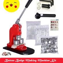Машина для изготовления значков для кнопок + форма для значков для кнопок 32 мм + значок для кнопок 32 мм, сырье для значков для кнопок 500 шт. + 1 ш...