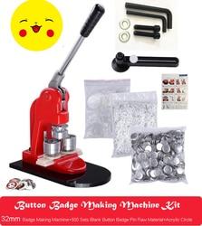 Button Badge Making Machine Maker 32mm Button Badge Mould32mm Button Badge Pin Raw Material 500PCS 1pcs Acrylic Circle Cutter