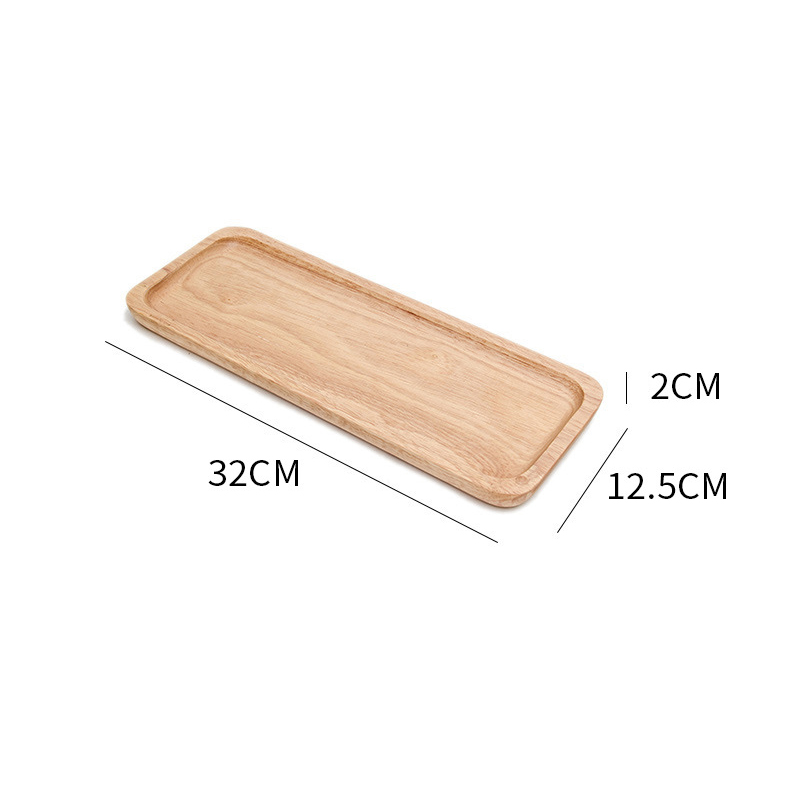 Wooden Round Storage Tray Plate Tea Food Dishe Drink Platter Food Plate Dinner Beef Steak Fruit Snack Tray Home Kitchen Decor - Цвет: 11