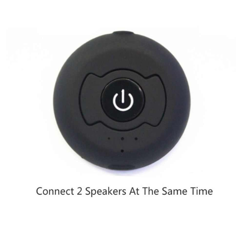 Портативный мини Bluetooth 4,0 CSR двойной аудио передатчик ТВ приемное устройство распределителя адаптер 3,5 мм аудиоадаптер Джек и играть
