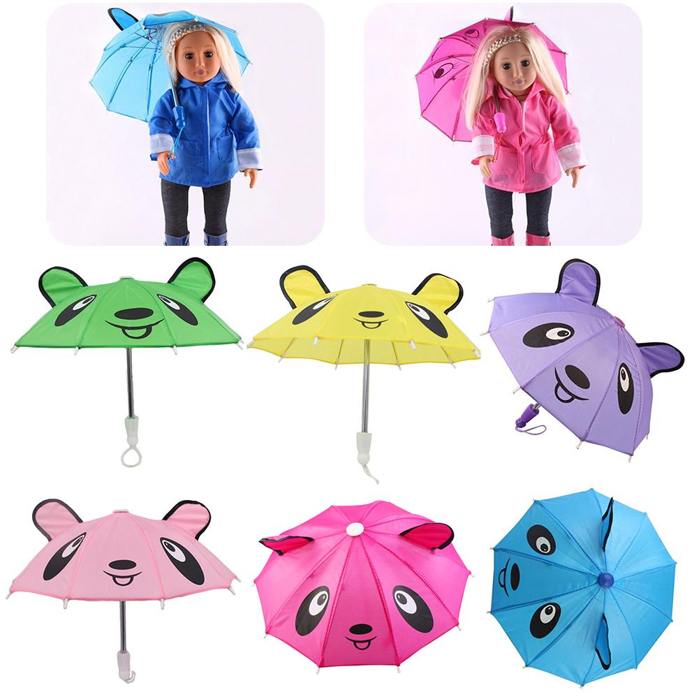 Baby Girl Doll Umbrella Accessories for 18 inch American Dolls Clothes Handmade Outdoor Gift for Children Born Toys Accessories(China)