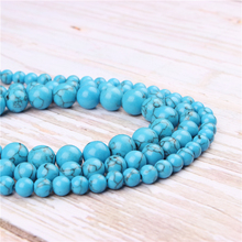 Wholesale Blue Pine Natural Stone Beads Round Beads Loose Beads For Making Diy Bracelet Necklace 4/6/8/10/12MM