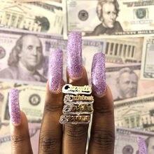 2021 neue Custom Name Ring Gold Persönlichkeit Hip Hop Ring Frauen Mode Punk Brief Ring Geschenk